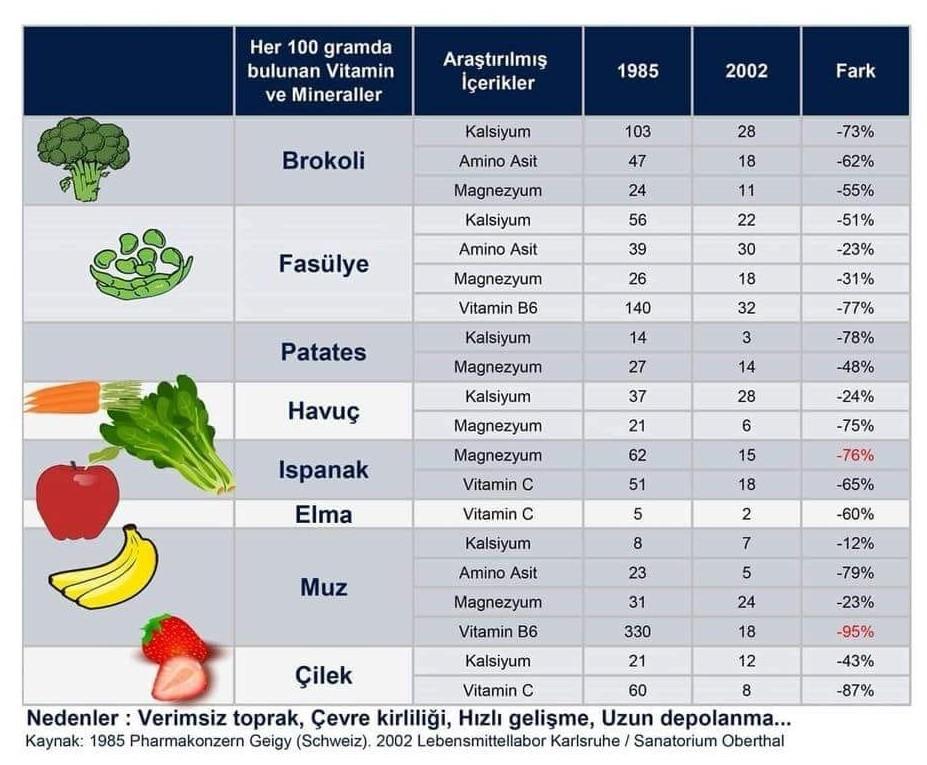 İklim Değişikliği Gıdaların Besleyici Özelliğini Azaltıyor mu?
